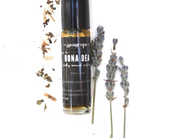 Bona Dea... A sexually provocative sensual all natural roll-on essential oil perfume with patchouli, lavender and myrrh