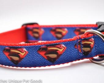 Superman - Buckle or Martingale Dog Collar