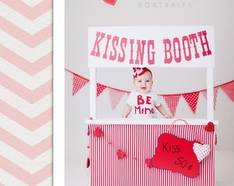 Kissing Booth Banner. Photo Booth Banner. Valentine's Day. Mini Session. Childrens Photography