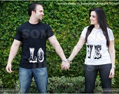 His and Her L.O.V.E. T-shirts