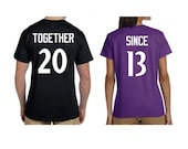 Together Since Couples Shirts - Choose Your Teams Font & Colors. House Divided. Team Divided. House Divide shirt. Team Divide shirt.
