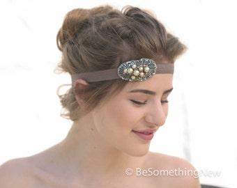 Bohemian Elastic Headband, With Beaded Accent Boho Women Hair Accessory, Festival Headband, Headbands for teens