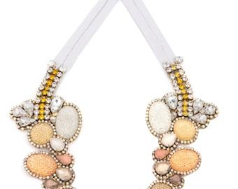 SALE- Doloris Petunia's Seurat Necklace - Color Fade in Honey Tones