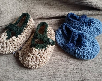 Slippers, Mary Jane, Women's 5-6, Adult Size, House shoes, Slippers, Baboosh, Wabaki, Indoor Shoes, Crochet Slippers