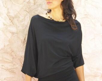 Oversize tunic -Plus size clothing-Plus size tunic top in black -Oversize tunic- Maternity tunic- Maternity top- Maternity clothing