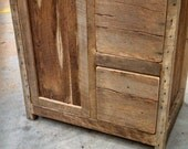 YOUR Custom Rustic Barn Wood Vanity or Cabinet with 2 Drawers FREE SHIPPING