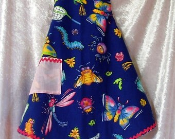 Frilly and Buggy -  Toddler Size Adjustable Apron