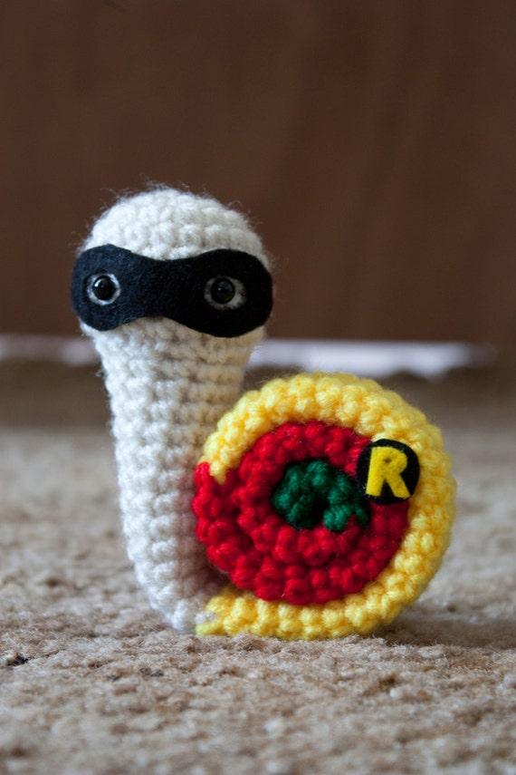 Snail Avengers Amigurumi : Superhero snails Snail Grayson crochet amigurumi