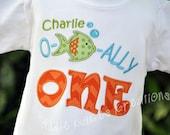 Personalized Fish Kids Birthday Shirt / O Fish Ally