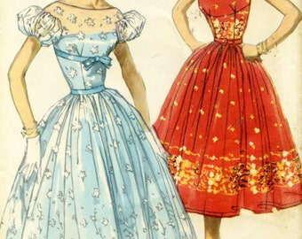 Vintage Simplicity 1567 Misses Empire Waist and Fitted Bodice Sewing Pattern Size 16 Bust 34