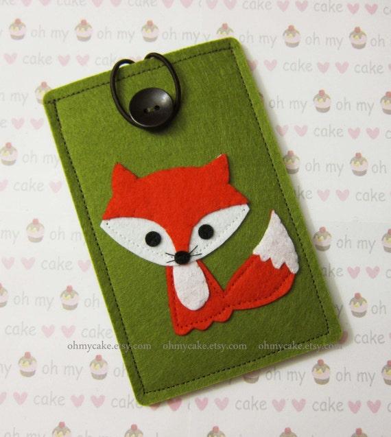Custom Size Felt fox iPhone Case, Cell Phone Sleeve, Felt Phone case, Handmade cell phone purse, Owl case, iPhone 7 case