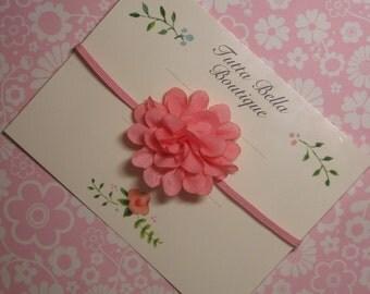 Pink Flower Headband, Baby Headband, Mini Pink Headband, Baby Hair Bow, Toddler Headband, Newborn Headband