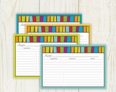Mulicolor Mosaic Recipe Cards Lined 4x6 No 882a