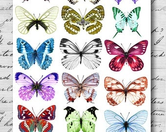 Butterfly of Spring - A4 Digital Collage Sheet - For unlimited number of prints - Set1