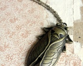 Beetle Necklace - Egyptian Scarab - Statement Necklcae - Elegant Rustic Nature Inspired Brass Jewellery