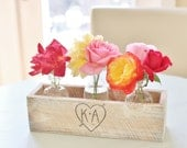 Personalized Planter Box Rustic Chic Wedding Centerpieces Vases Barn Coutry Decor (Item Number 140321) NEW ITEM