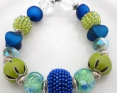 Seascape Beaded Stretch Bracelet