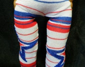 """American Girl Doll Tights: RED, WHITE & BLUE Striped Tights for 18"""" Dolls"""