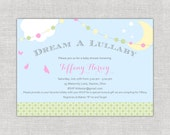 Dream a Lullaby Baby Shower Invitations, Twinkle Twinkle Little Star, Girl Shower Invites, Whimsical, Whimsy, Nursery Rhymes