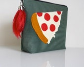 Pepperoni Pizza Slice Pouch - Zippered - OOAK