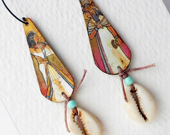 Beachin Mixed Media Earrings No. 4