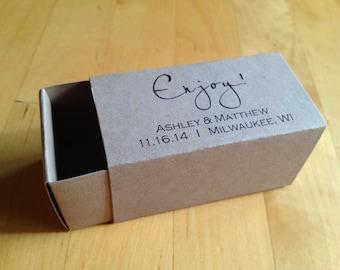 Custom Printed Favor Box, 2 Piece Truffle, Small Slide Box, Personalized Favor Box - Matte Paper