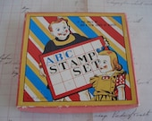 A B C Vintage Rubber Stamp Set New / Old Store Stock Alphabet Set