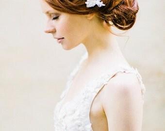 Wedding Headpiece, Bridal Headpiece, Crystal Headpiece, Lace, Bridal Hair Comb - Style 314