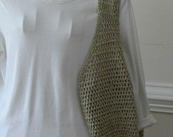 Wide Bottom Market Bag/ Crocheted Market Bag/ Summertime Hobo Bag