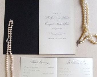 Wedding program booklet | Etsy