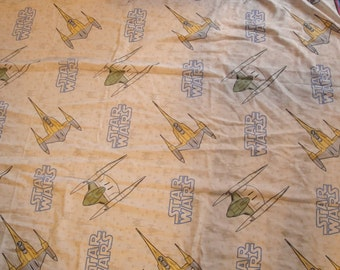 Star Wars Twin Sheets Phantom Menace Naboo Material Fabric
