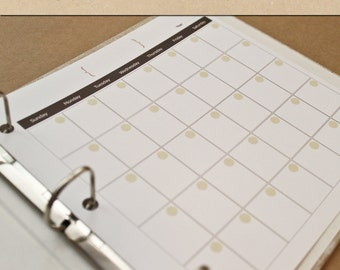 Calendar (12 months)  - NEUTRAL -  Include in your Two Giggles Baby Album