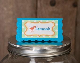 Dinosaur Baby Shower Food Tents - Dino Theme - Menu Cards - Place Cards - Dinosaur Baby Shower Decorations - Dinosaur Shower Theme (6)