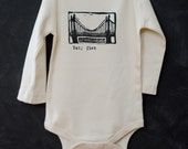 Brooklyn Baby Onesie - Personalized Brooklyn Bridge Onesie - Custom Baby Name - Printed Organic Onesie - New Baby Gift - Baby Shower