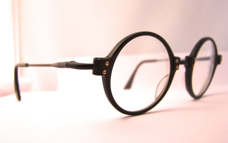 Designer Black Eyeglasses Round LENS Frames / Le Club