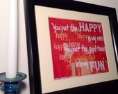 SALE Ben Harper Lyrics Print // Walk Away // Collectible Music Art Home Decor // Gift for Loved One