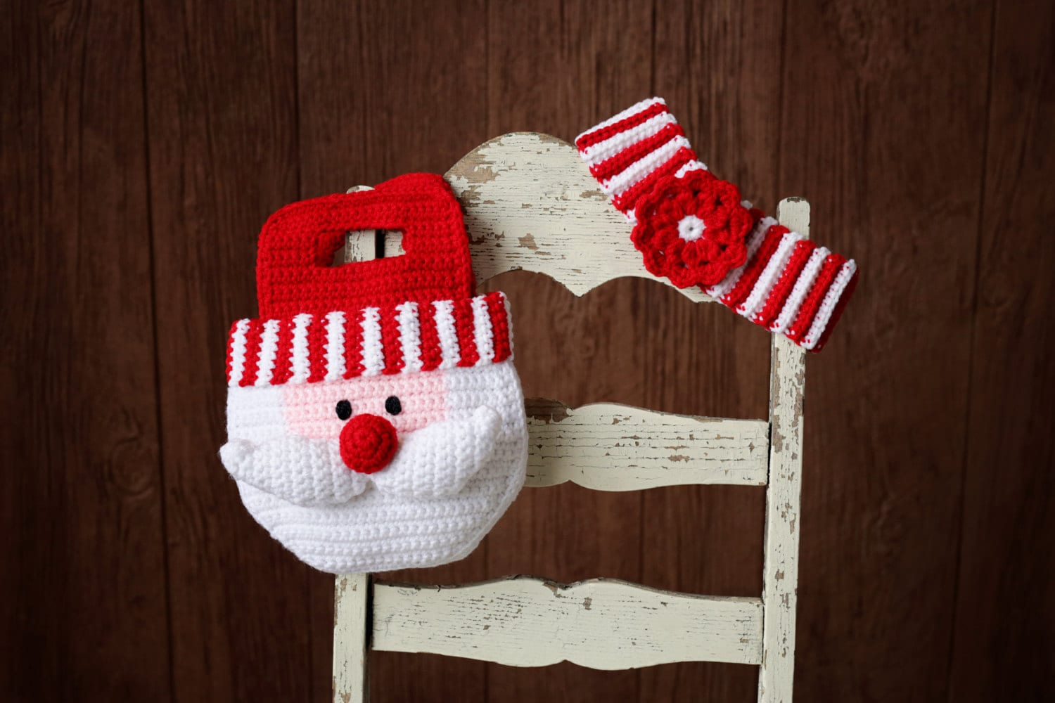 Girl Crochet Pattern Santa Purse Christmas Bag And Striped