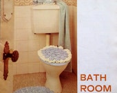 1960s BATHROOM SETS KNITTED Kitsch Accessories
