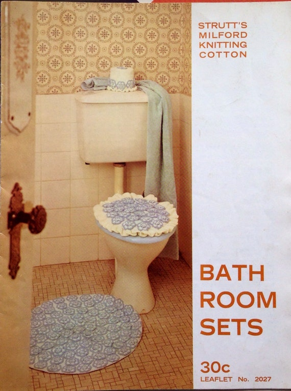 1960s bathroom sets knitted kitsch accessories from for 1960s bathroom decor