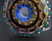 Complex Ornate Mandala Pendant, OOAK