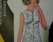 Vintage 1973 Half Size Dress Long and Short Pattern