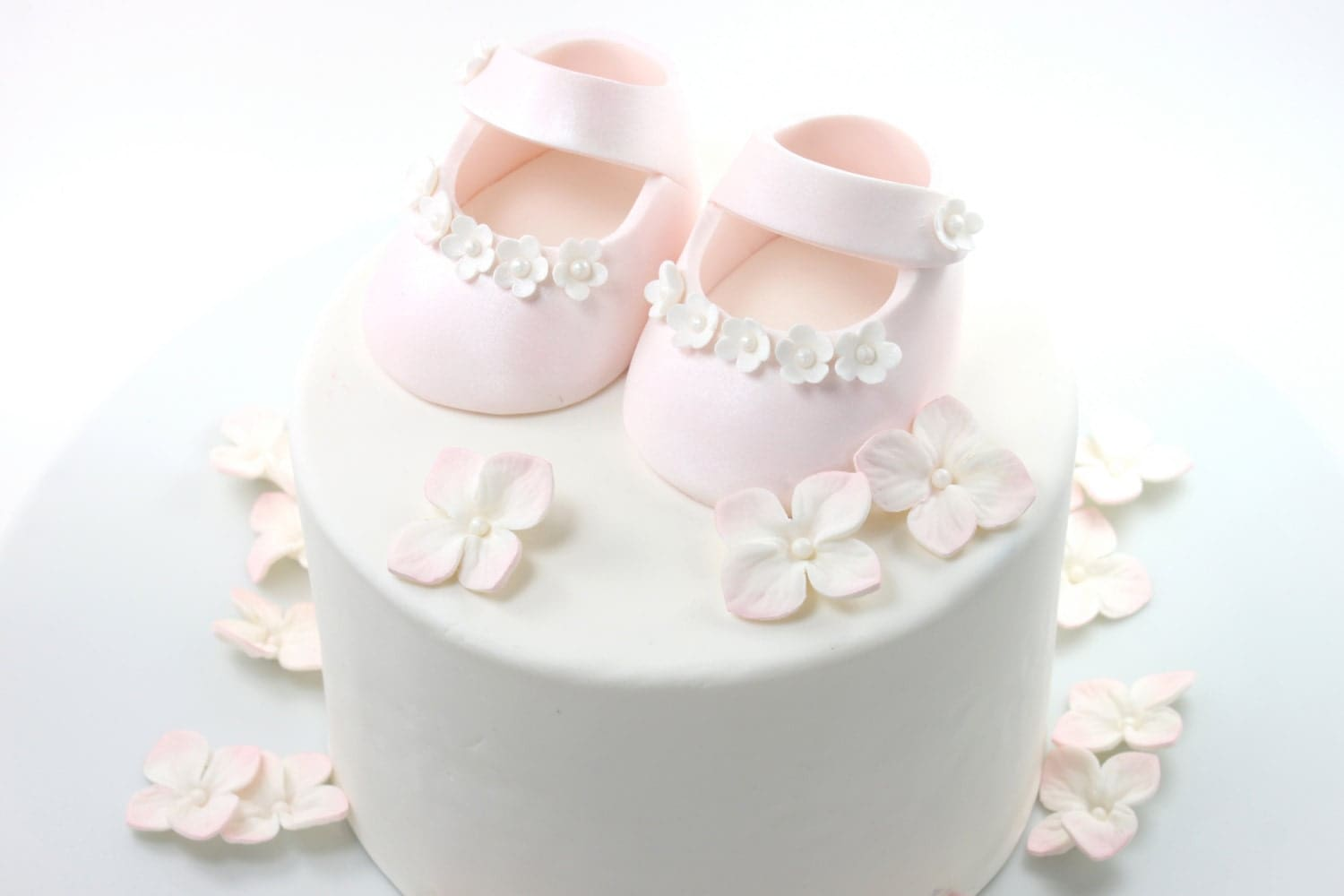 Buy Pink Baby Shower Shoes For Cake