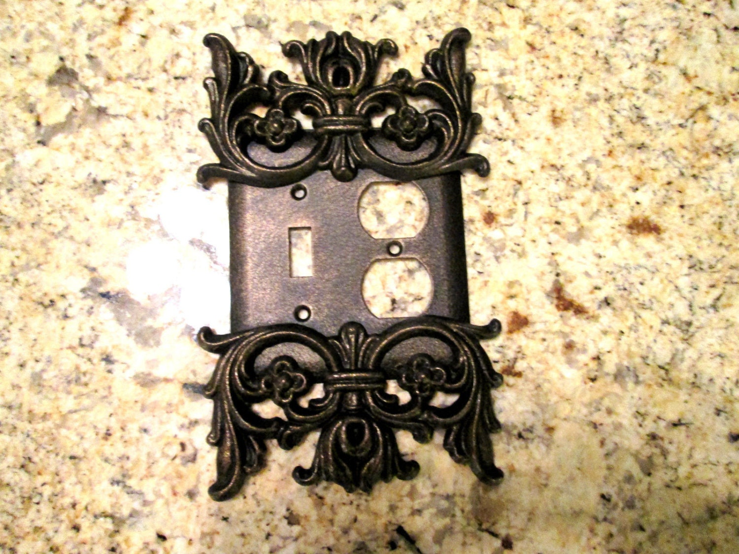 Metal Single Light Switch And Outlet Combo Plate Cover Free