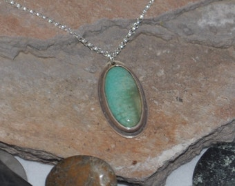 SALE Pale Green Turquoise Pendant SALE