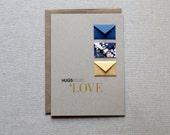 Hugs, Kisses and Love - Tiny Envelopes Card