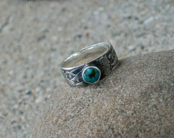The Earth Angel Turquoise and Sterling Silver Ring size 7