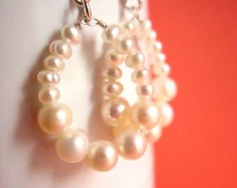 Eternal Ocean - Freshwater Pearl Earrings