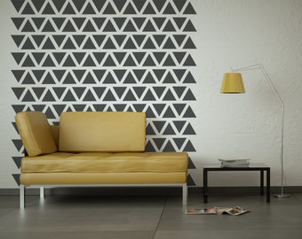 Triangle Wall Decal, Triangle Decals, Nursery Wall Decal, Geometric Wall Decal, Pyramid Decals, Dorm Decor, Dorm Wall Art, Dorm Room Decor