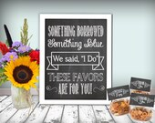 Wedding Favors Sign Chalkboard Printable 8x10 PDF Instant Download Rustic Shabby Chic Woodland