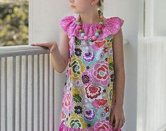 Girls Ruffle Dress Pattern, Easy Dress Sewing Pattern, Girl Dress Pattern, Baby Dress Pattern, Lauren Ruffle Dress - Girls 3m-10